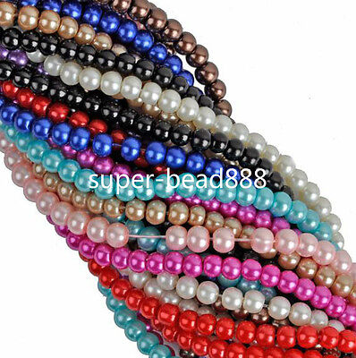 Free Ship 200Pcs Pearl Mixed Nnice Spacer Beads 4mm For Jewelry