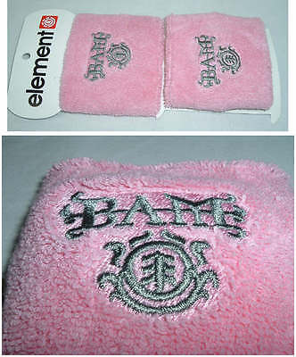New Womens Girls ELEMENT BAM MARGERA Wristband Wrist Band Pink Wristbands