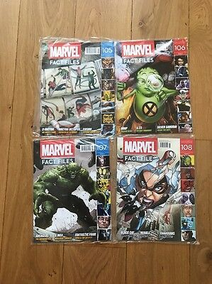 NEW Eaglemoss Marvel Fact Files x4 - Issues 105 106 107 108 Bundle Sealed 🤐