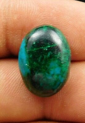 17.1 Cts Amazing Natural Chrysocolla 18X13X6 Mm Oval Cabochon Loose Gemstone