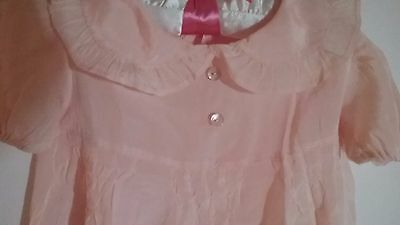 Vintage baby girl clothes, Beautiful Taffeta Pink Dress, Size 12-19  Months SALE