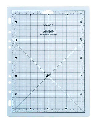 FISKARS Two-Sided Craft Mat - Self Healing Front Side - 8 x 11 inch graph - A4