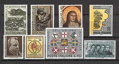 Italy - 1966 - Single issues, MNH.