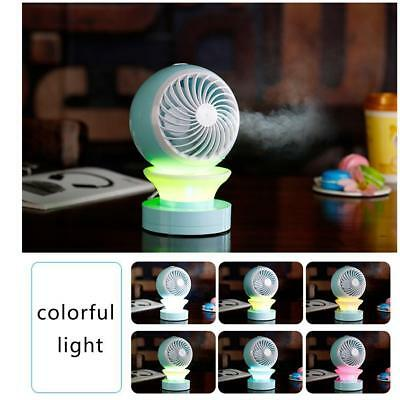 LED Mini Fans Table USB Rechargeable Fan Humidifier Air Conditioner Air CoolerS[