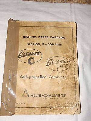Allis Chalmers 1967 Gleaner C & C2 Dealers Parts Manual