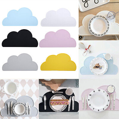 Silicone Heat Resistent Placemat Baby Mat Tableware Utensil Mats Cloud Shaped
