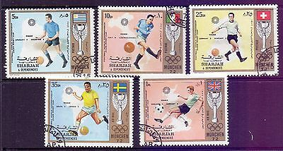 Sharjah  1972  Munich 72 Soccer World Cup, CTO.