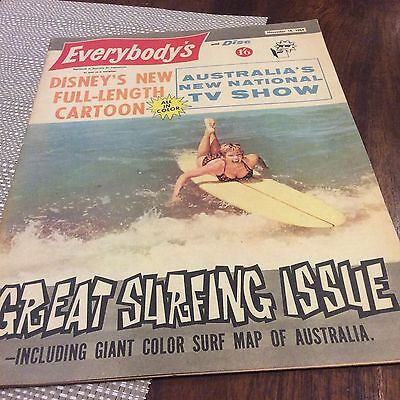 Rare Vintage Surfing Magazine Oz With Map Boards Type Little Pattie Ray Charles