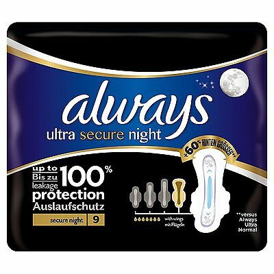 5 x ALWAYS Ultra secure night à 9 St mit Flügeln (= 45 St.)