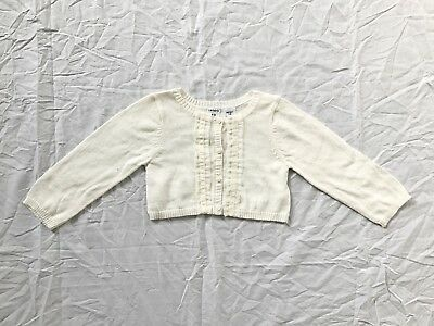 NEW Carters Baby Girl Knit Cardigan Size 12m