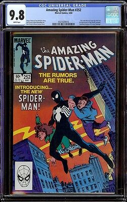 Amazing Spider-Man # 252 CGC 9.8 White pages 1st app of the Black Suit in title