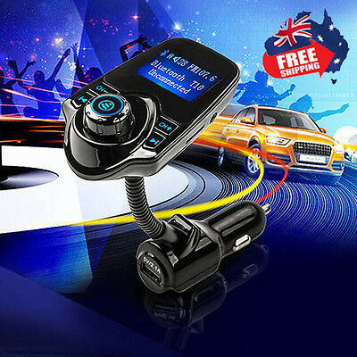 Wireless Bluetooth Kit Handsfree Car FM Transmitter MP3 Player USB LCD Modulator