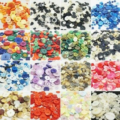 100g Assorted Buttons Arts Sewing Card Making Mixed Buttons Plastic