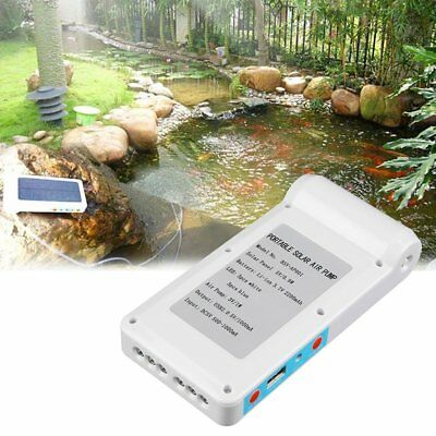 Solar Power Panel Oxygen Oxygenator Air Pump Aerator Pool Pond Fish TankPR