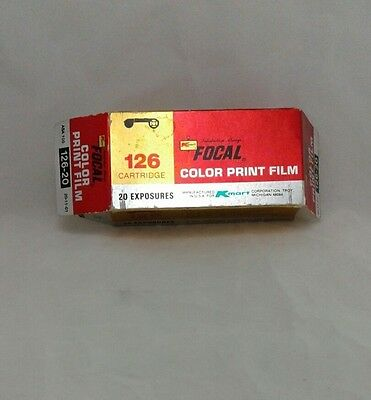 126 Color Print Film 20 Exposure 100 Speed 126-20 Focal K-mart exp 5/83