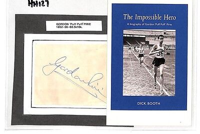 HH127 1952 Olympics 5000m 10000m Runner Signed Cover *Gordon Pirie*  PTS