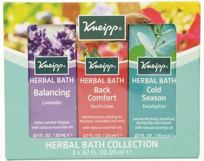 Kneipp 3 Piece Herbal Bath Collection - 3 x 20ml