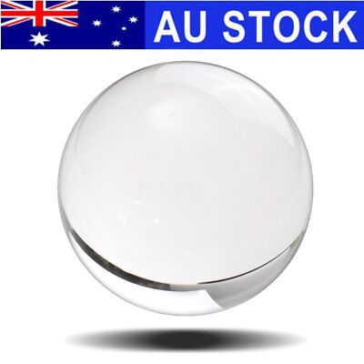 100mm Clear Round Glass Artificial Quartz Crystal Healing Ball Sphere Decoration
