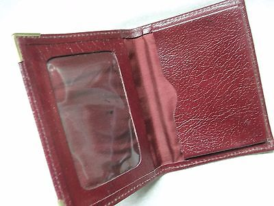 FINE LEATHER OXBLOOD VINTAGE BUSINESS CARD WALLET 1980s 1990s MADE IN ENGLAND