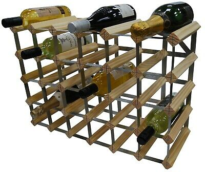 Rammento 30 Bottle Pine Wooden Wine rack FULLY ASSEMBLED Made in the UK
