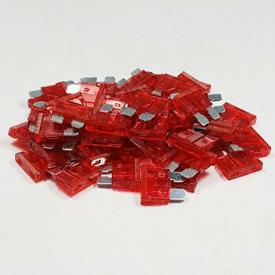 25 x 10 Amp Red Standard Blade Fuses Amps 10A Fuse Car Van Auto Marine ATO