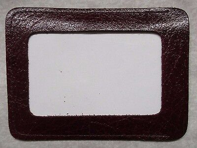 Wallet Vintage Leather OXBLOOD ID PASS LICENSE 1980s 1990s ENGLAND MADE