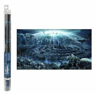 Hydor H2Show Atlantis Aquarium Background Scene Fish Tank With Adhesive Gel