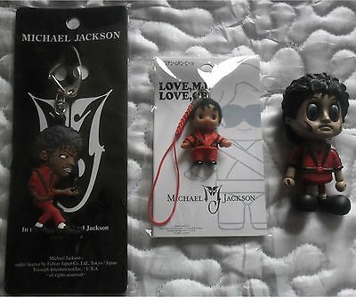 Michael Jackson Thriller Secret Mini Cosbaby + Keyring + Phone Jewel From Japan