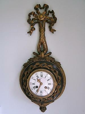 Bronze & Ormolou Cartel Clock Good Working Order