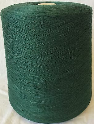 Folco Knitting Machine Yarn 2/28 2.2 Kilos 50% Wool Bottle Green Blend IND26.01