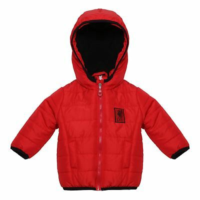 Liverpool FC LFC Baby Boys Girls Red Quilted Fleece Lined Jacket NWT Official