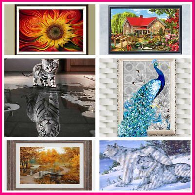 3D DIY Diamond Embroidery Painting Animals Of Cat To Tiger Home Decoration MGS