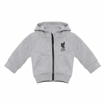 Liverpool FC LFC Baby Grey Marl Zip Through Liverbird Hoodie NWT Official