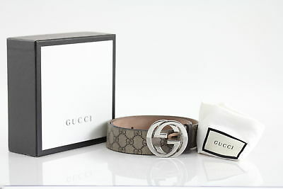 Gucci GG Supreme belt with G buckle Size 80/32