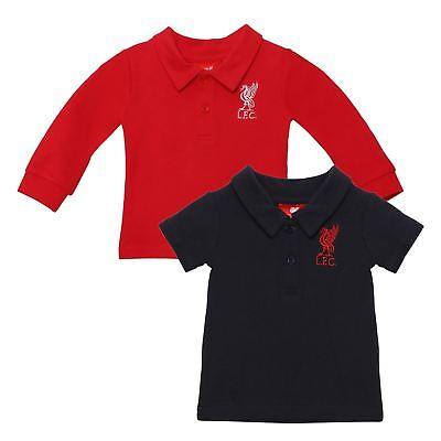 Liverpool FC LFC 2 Pack Baby Red and Navy Liverbird Polo Shirts NWT Official