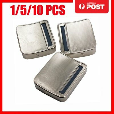 Metal Automatic Cigarette Tobacco Roller Roll Rolling Machine Box Case Tin AUGS