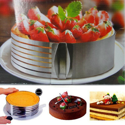 NEW Adjustable Layer Round Ring Cake Mousse Slicer Slicing Mould Bakerware Tool