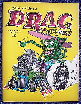 June/July 1963 Number 1 Issue Drag Cartoons Mint