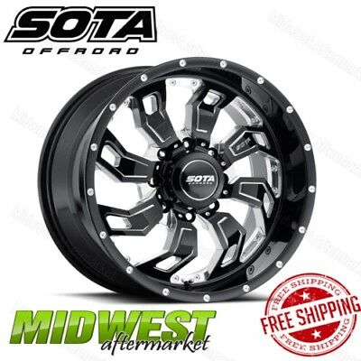 SOTA Offroad SCAR 20x9 8x6.5 Bolt Pattern 0 Offset 130 Bore Death Metal Rim