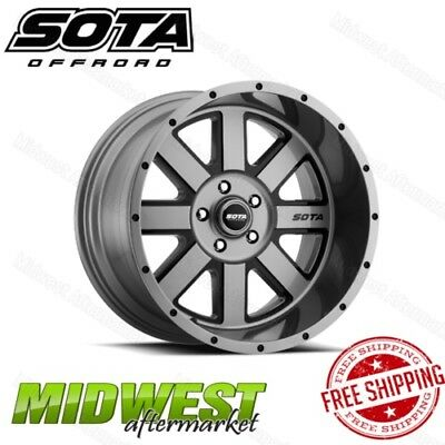 SOTA Offroad AWOL 20x9 5x150 Bolt Pattern 0 Offset 110 Bore Anthra-Kote Black