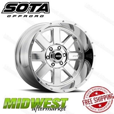 SOTA Offroad AWOL 20x10 6x135 Bolt Pattern -25mm Offset 87mm Bore Polished Rim