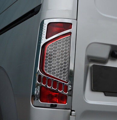 Chrome Rear Tail Light Trim Covers Set To Fit Ford Transit Connect (09-12)