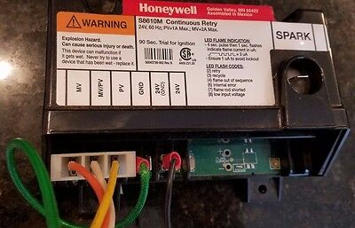 Honeywell S8610M Continuous Re-Try (only used 3 days)