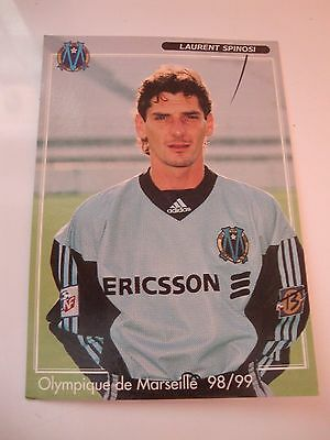Carte postale CP photo football LAURENT SPINOSI OM OLYMPIQUE MARSEILLE 1998/99