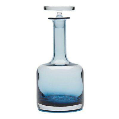 Stunning Vintage Wedgwood Blue Glass Decanter C.1969