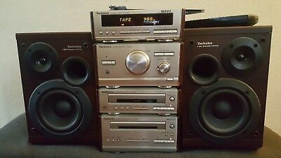 Technics Se Hd 501 Stereo System, Cd, Tape, Tuner, Speakers, Remote