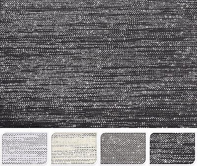 Set of 3 Large Woven Placemats Easy Wipe Down Clean Place Mats & Silver Thread
