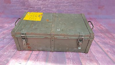 Vintage Industrial Army Ammunition Storage Metal Chest Trunk Blanket Toy Box