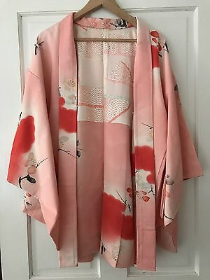 Vintage Pink and Red Japanese Kimono