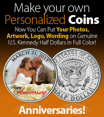 Wedding Favor on REAL COIN Personalized JFK Half Dollar Legal Tender UNIQUE Gift